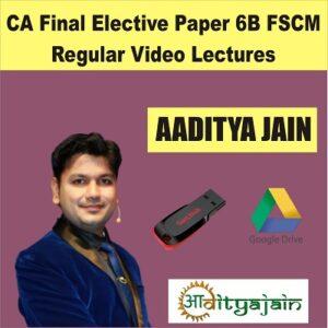 CA FINAL ELECTIVE PAPER FSCM